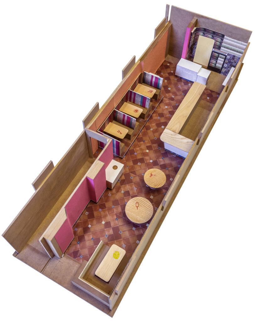 Mi Taco restaurant design Toronto (maquette)