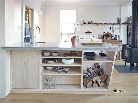 Contemporary kitchen concrete countertop (thumbnail)