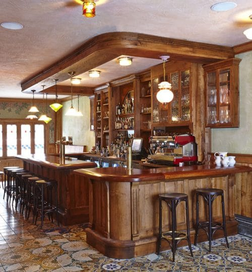 Bar Isabel restaurant design Toronto (custom bar)