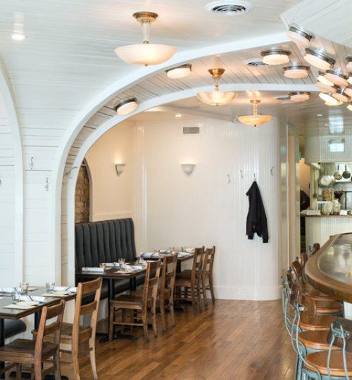 Commodore restaurant design Toronto (arches)