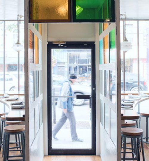 Commodore restaurant design Toronto (vestibule)