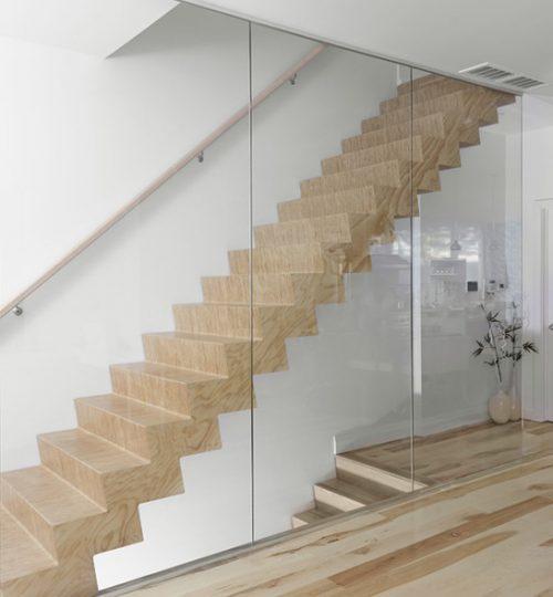 Custom floating staircase Toronto (angle)