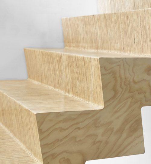 Custom floating staircase Toronto (detail)
