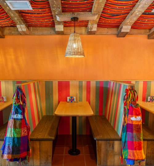 Mi Taco restaurant design Toronto (banquette)