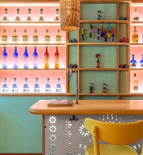 Mi Taco restaurant design Toronto (bar detail)