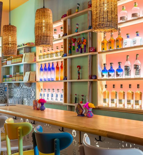 Mi Taco restaurant design Toronto (custom bar)