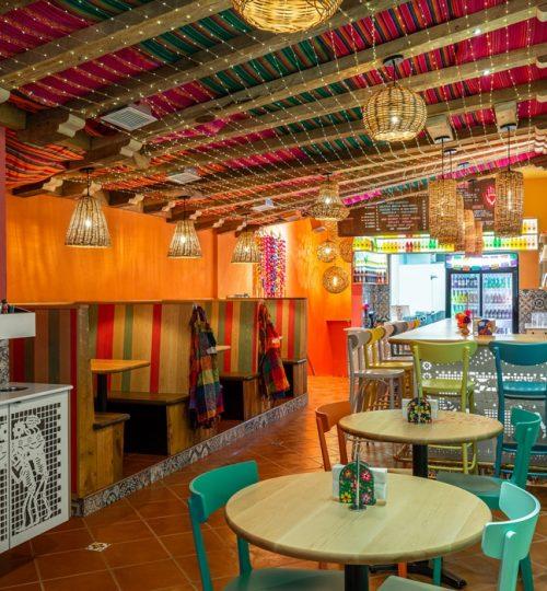 Mi Taco restaurant design Toronto (dining area)