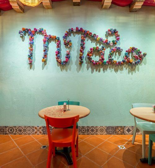 Mi Taco restaurant design Toronto (wall detail)