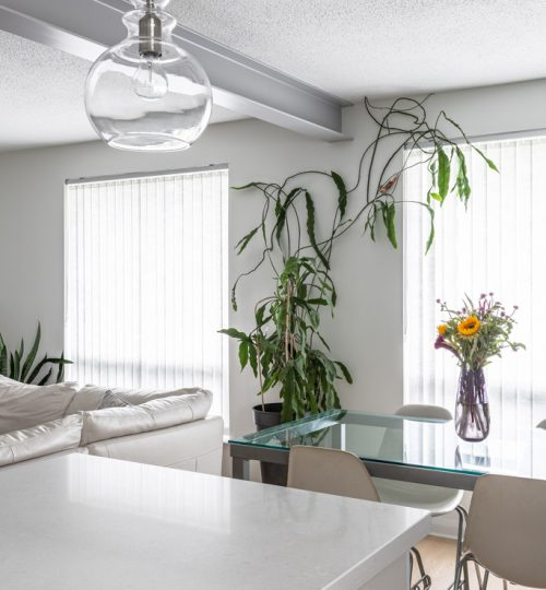 Millview kitchen remodel Toronto (custom steel beam)