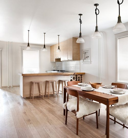 Modern kitchen renovation Toronto (dining room)